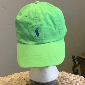 Vintage 80's Polo Lime green cap